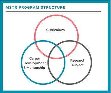 MSTR Program Structure: Curriculum, Career Development & Mentorship, Research Project